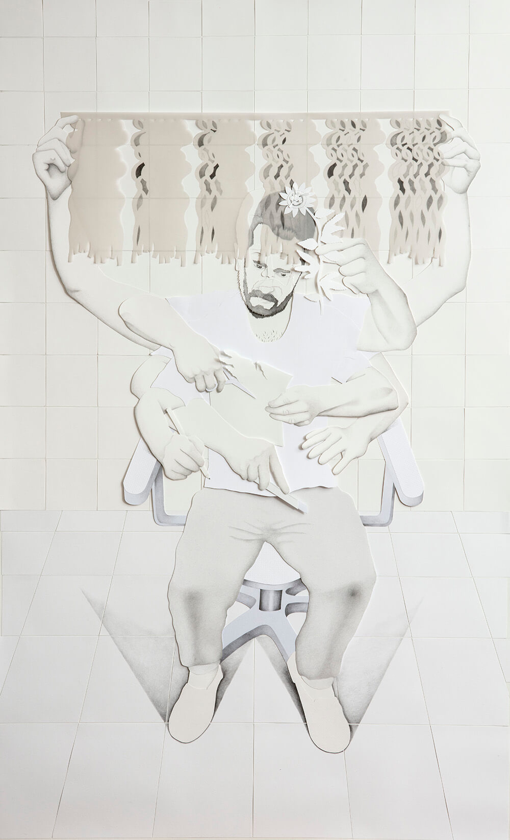 Yo dibujando | 2019 | 195x120cm